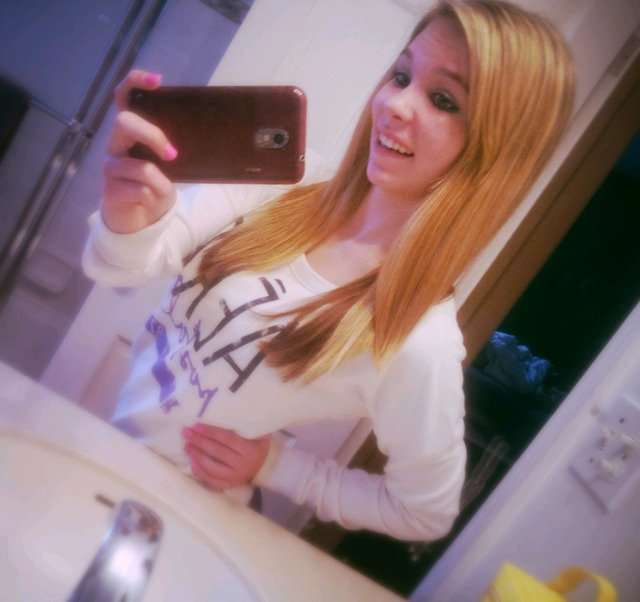 long hair , dont care <3