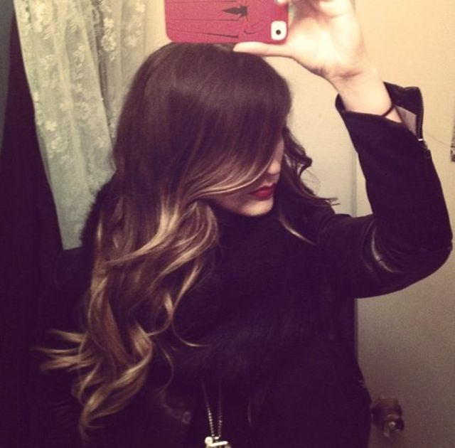 long ombré hair