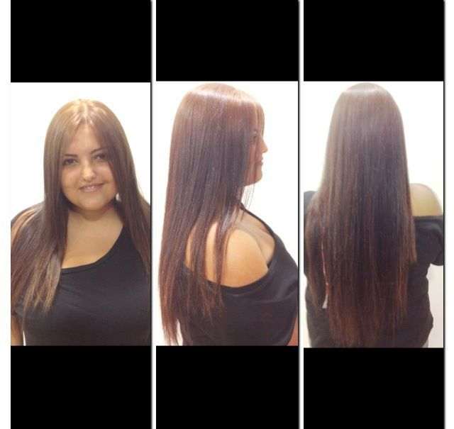 long straight hair + colour beigh (light brown)