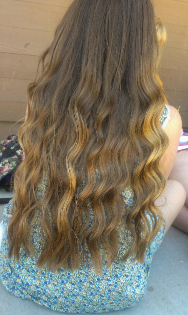long waves/curls