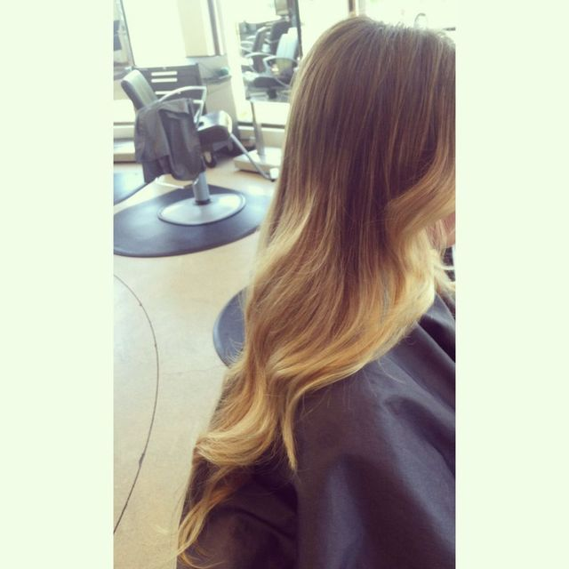 loose curls ombré