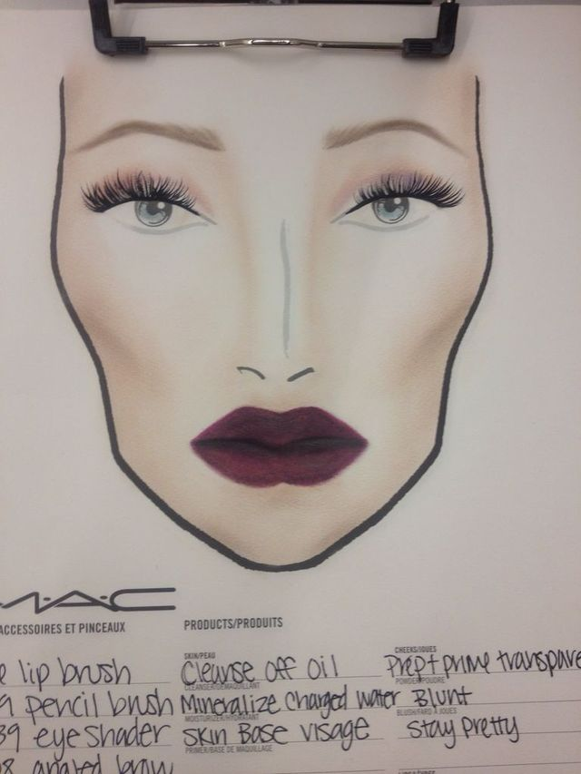 makeup chart for MAC stl
