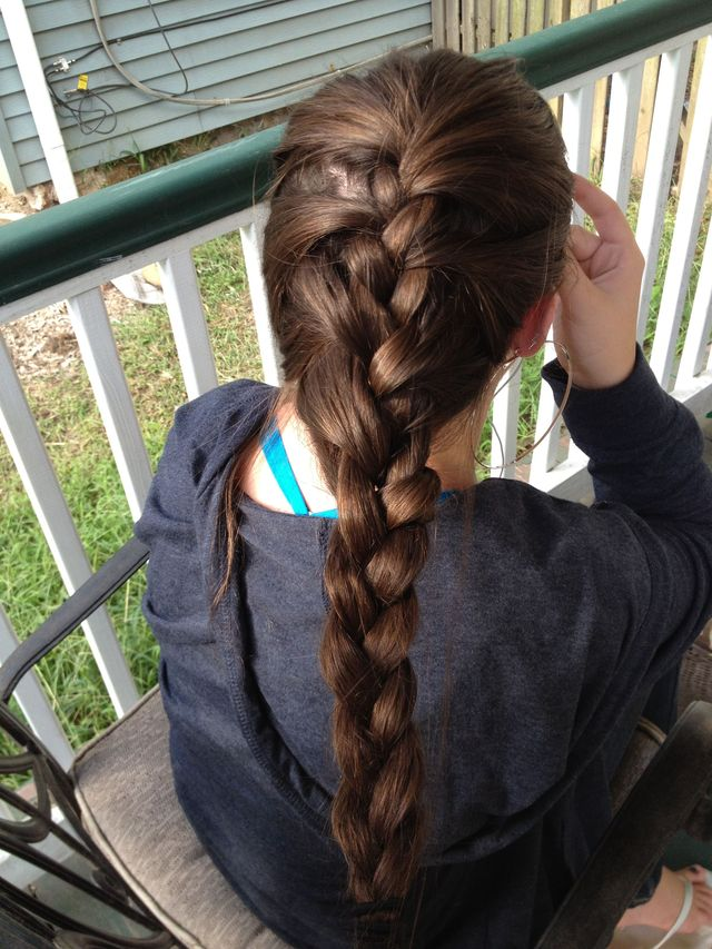 "messy ""French braid"""