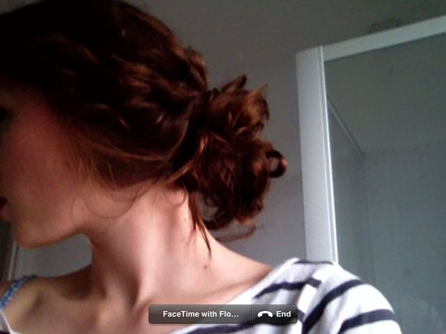 messy updo curl