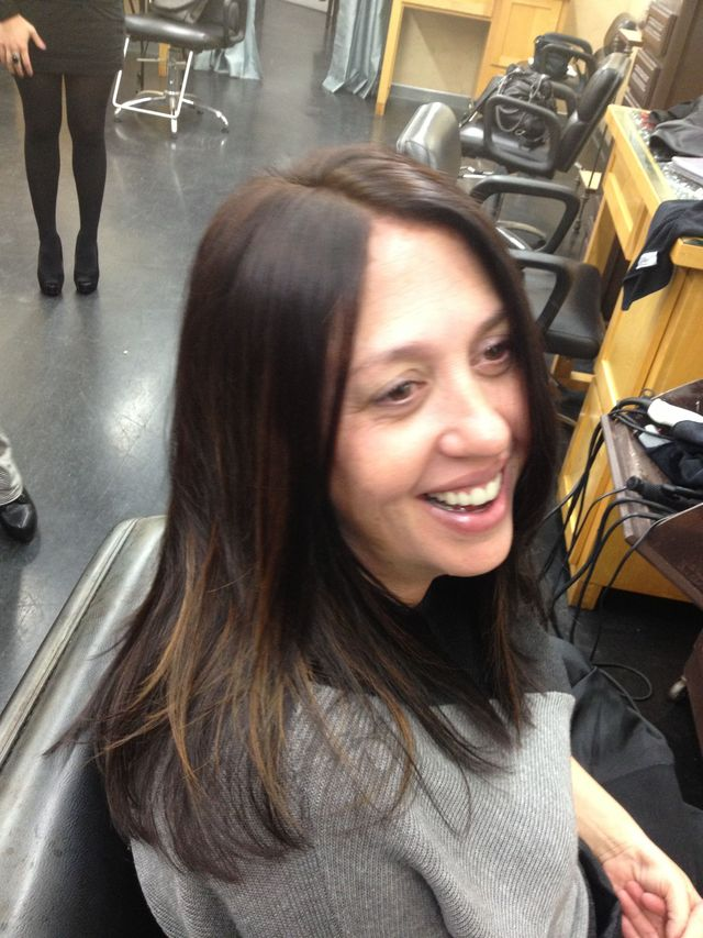 model from the Davines color class