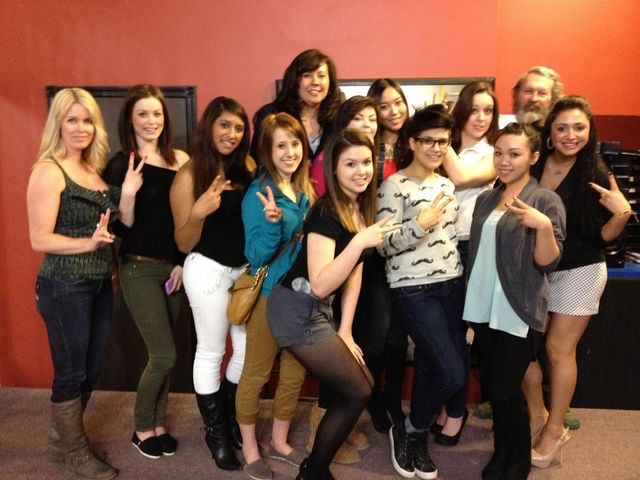 models ready for the Edmonton ABA show for Bangstyle