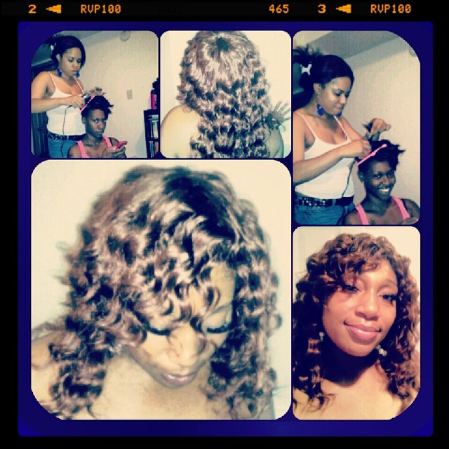 mowhawk curls.....sew in long lose deep waves