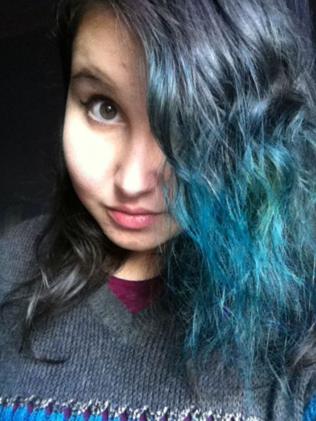 my blue/green hair