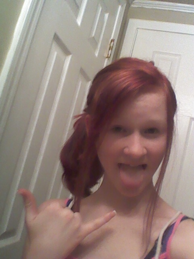 my hair, just dyed it((: