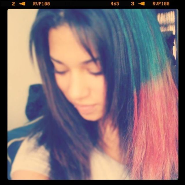 my new dipdye candy hair