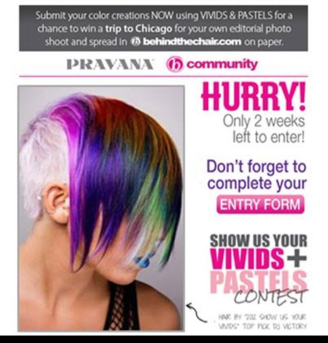 my photo promoting Pravana