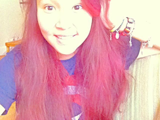 my red-pink hair :D