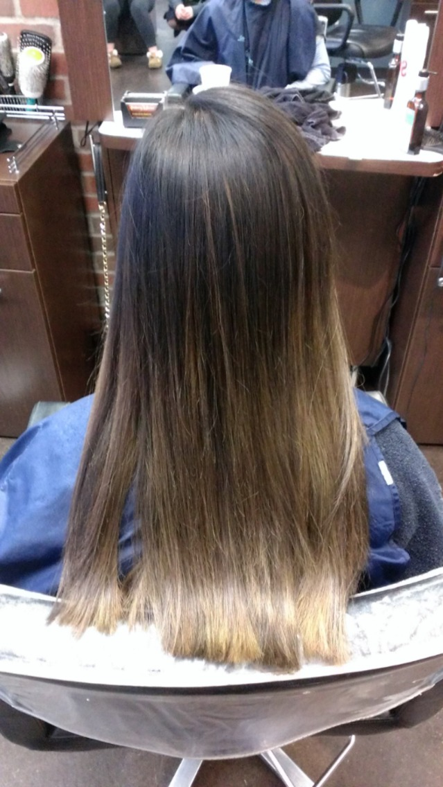natural melted highlights