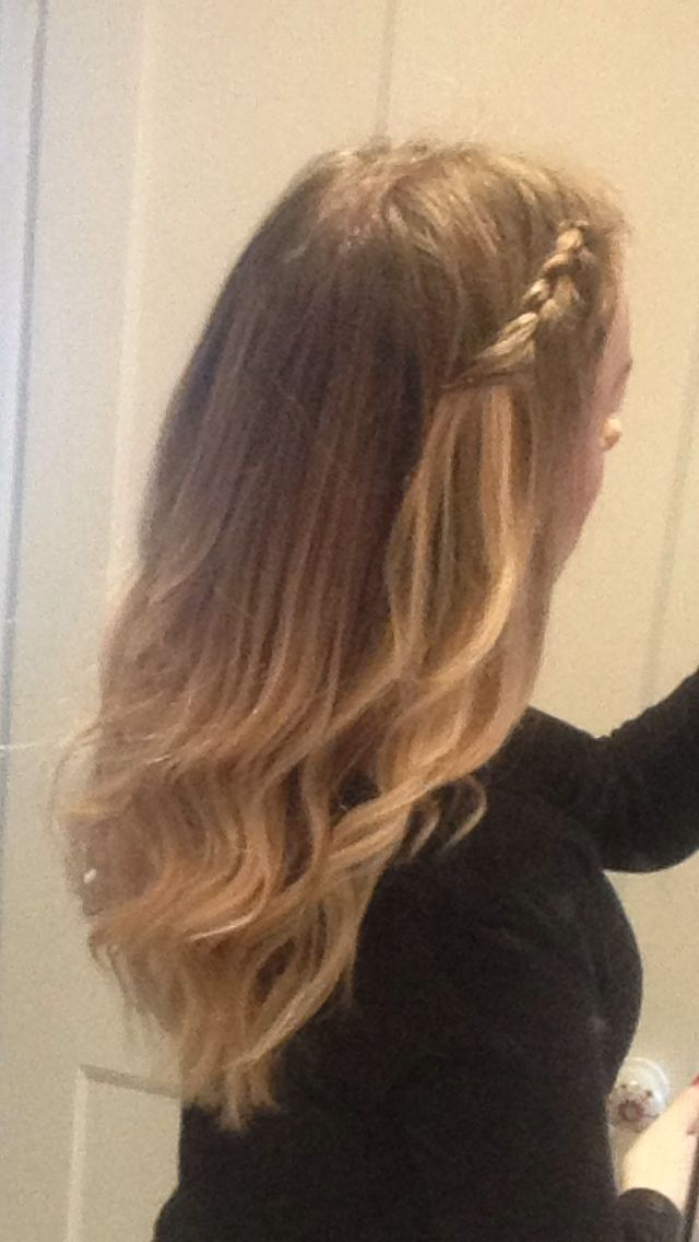ombré and plait