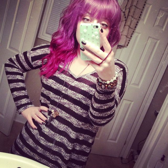 ombré purple and curls!