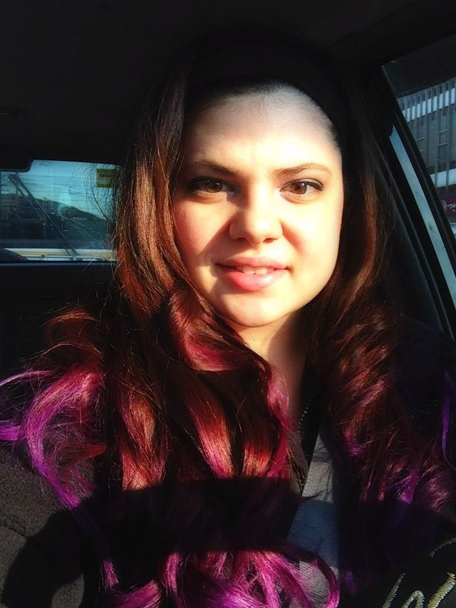 ombré red to purple