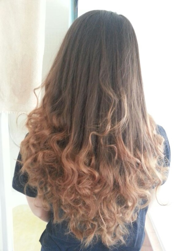 ombre curles