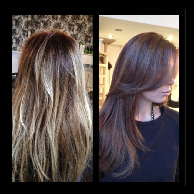 ombre goes brunette