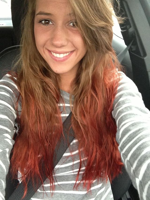 ombre red<3