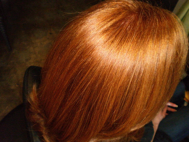 subtle color on natural red hair
