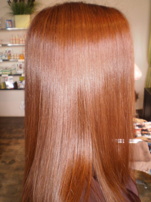 The After color and brazilian blowout