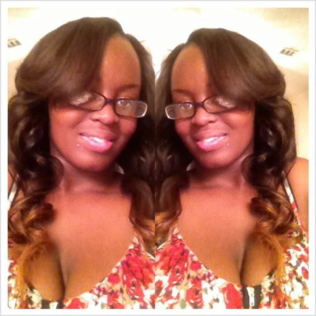 partial sew in w/custom ombre