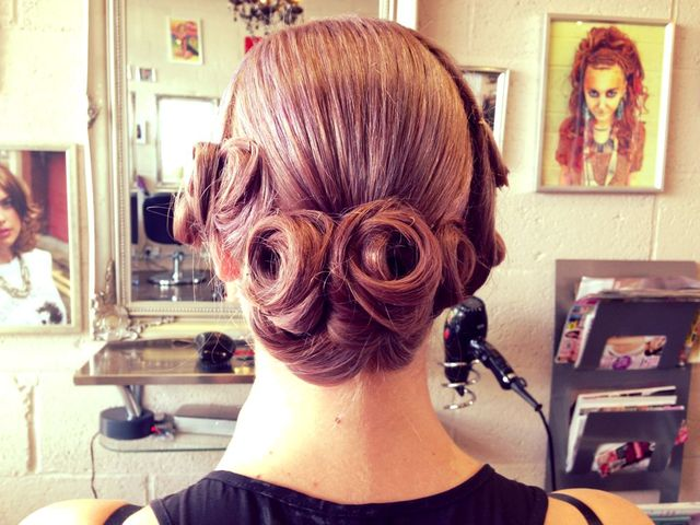 pin curl up-do