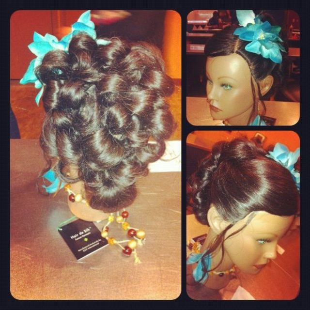 pin-up curls