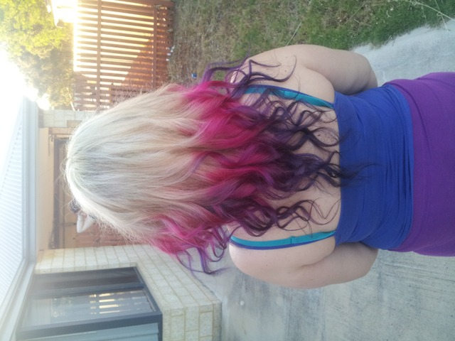 pink and purple curls <3