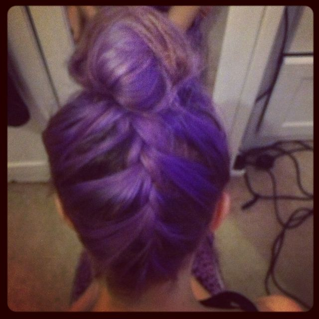 plaited purple