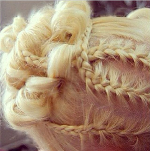 plaited updo