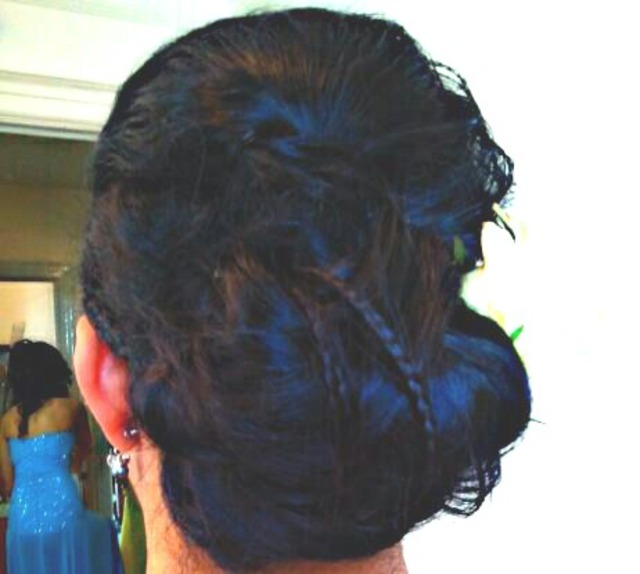 prom messy updo