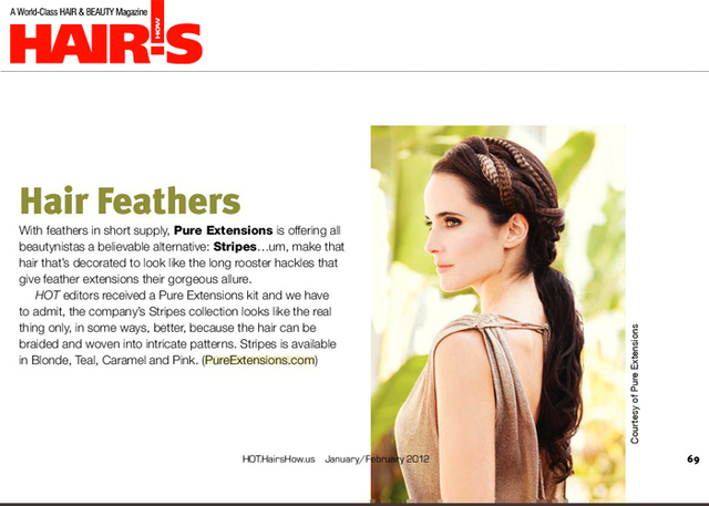 PURE Stripes featured in the January/February issue of Hairs How Magazine!!