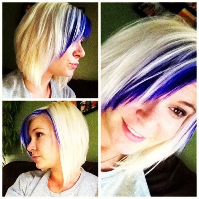 purple blonde bob