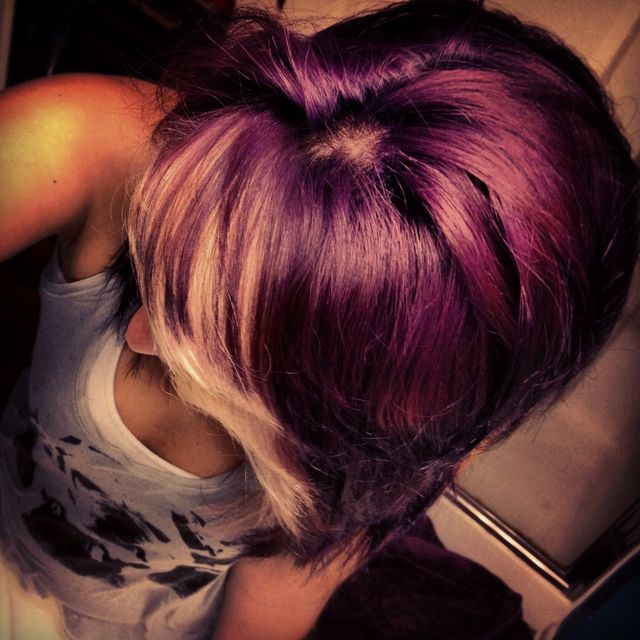purple blonde