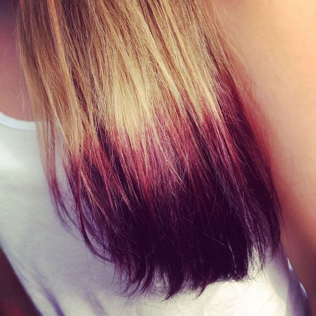 purple dipdye