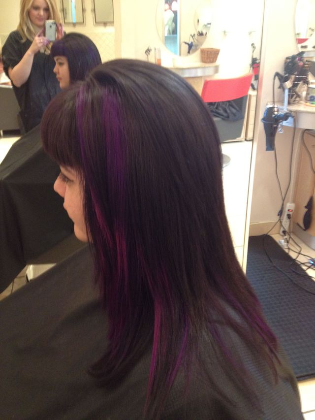 purple to magenta ombré