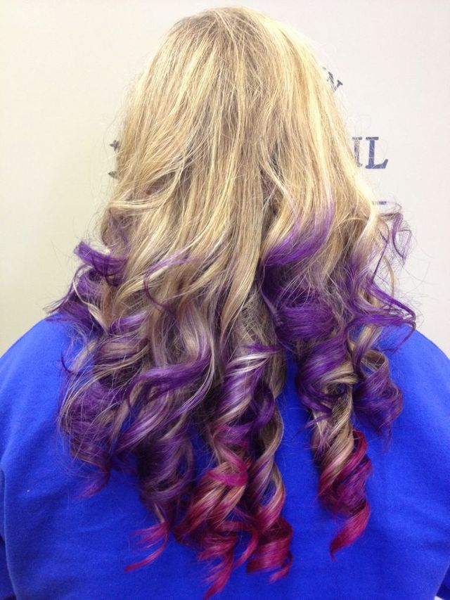 purple/pink ombré