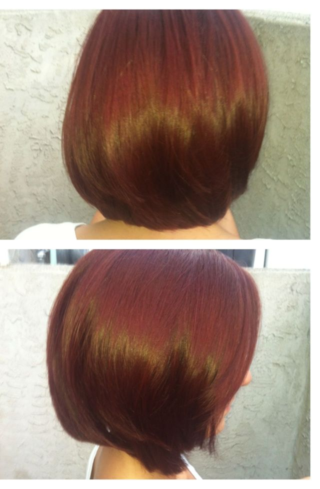 red head bob cut