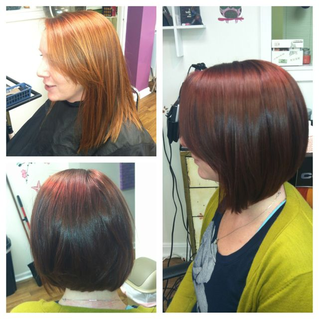 red inverted bob