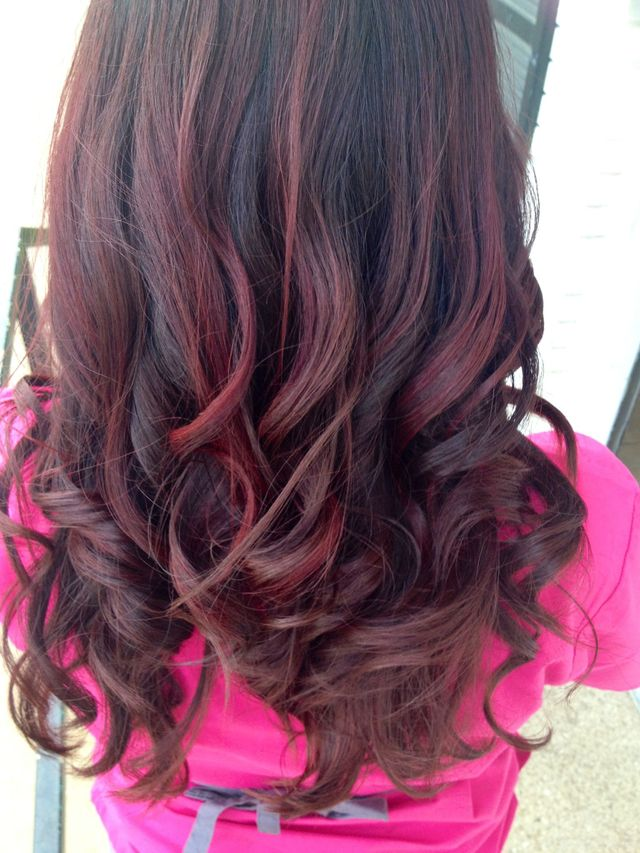 red long curls