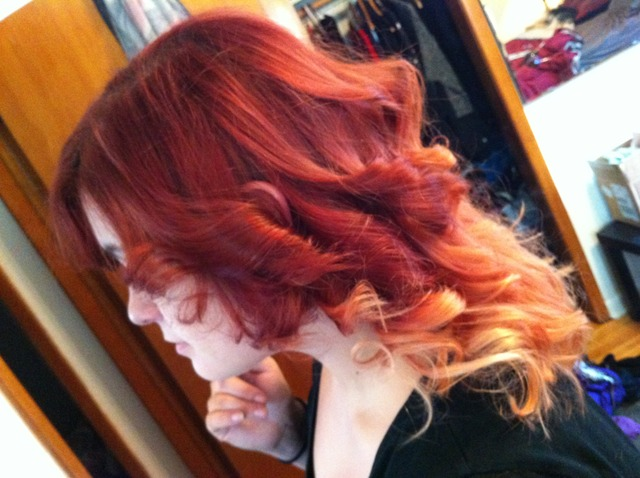 red ombre curly