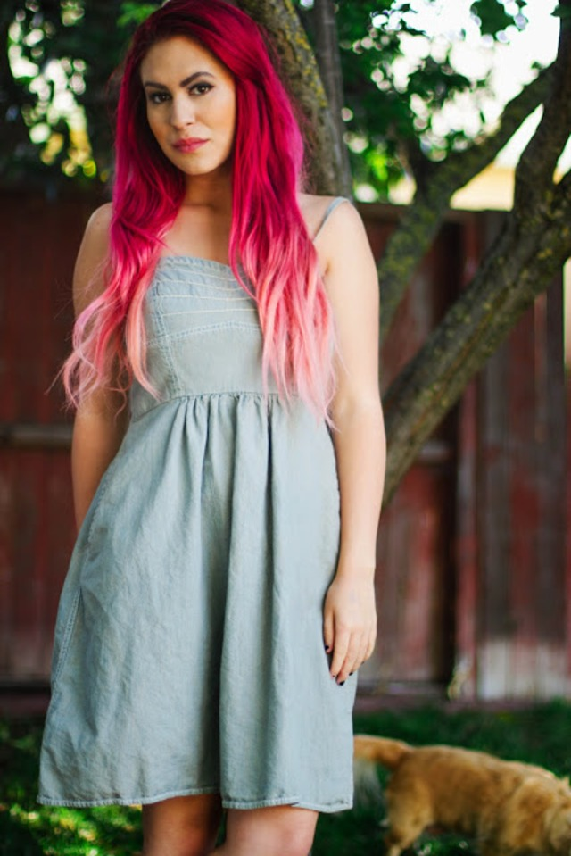 red pink ombre