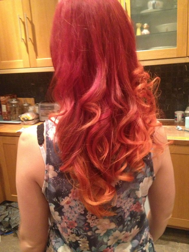 red/orange ombre