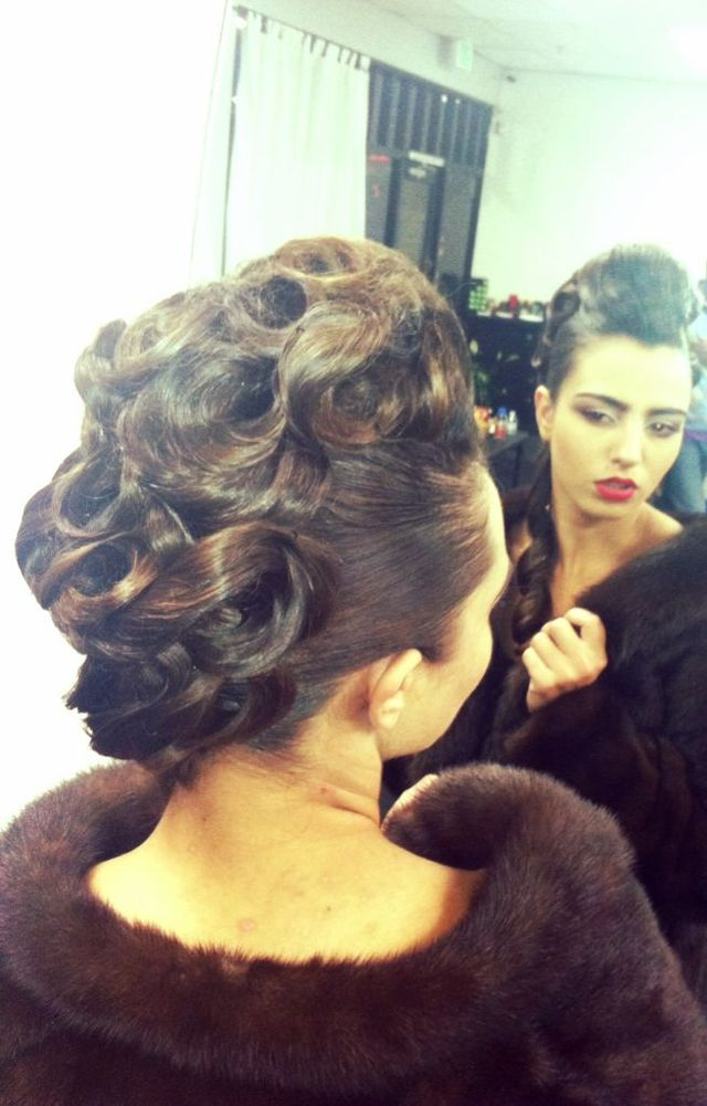 refined updo