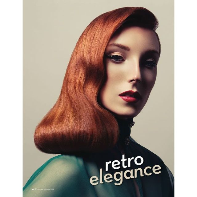 retro elegance hair