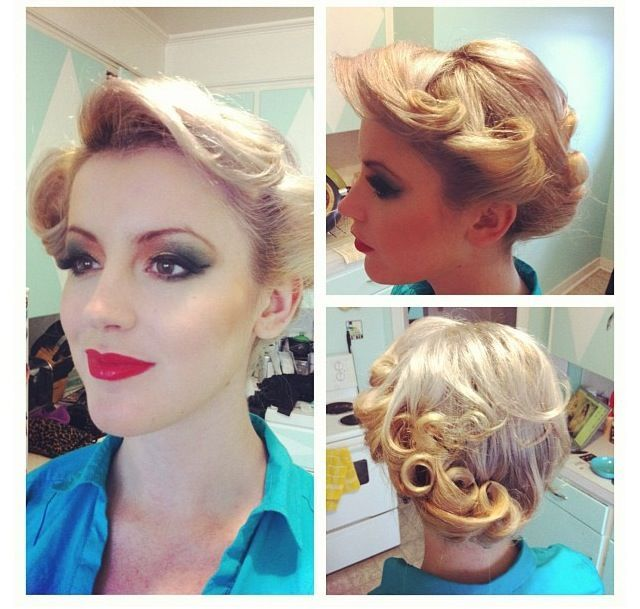retro up do