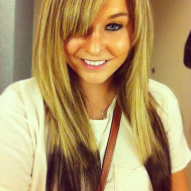 reverse ombre straight hair