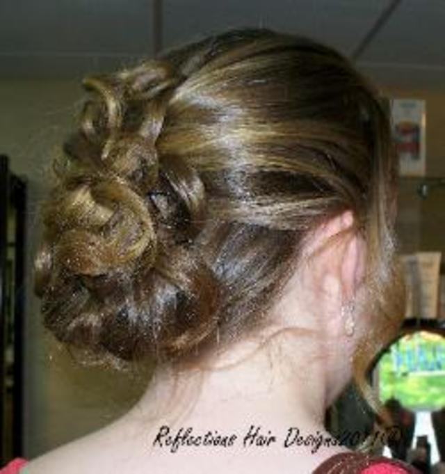 Updo for Owen J. Roberts Fashion Show