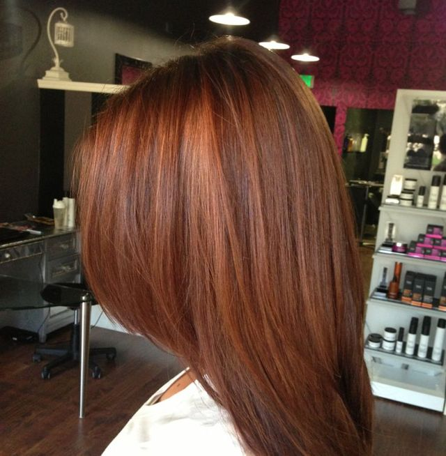 rich cinnamon auburn glaze // cut & color by Kendi